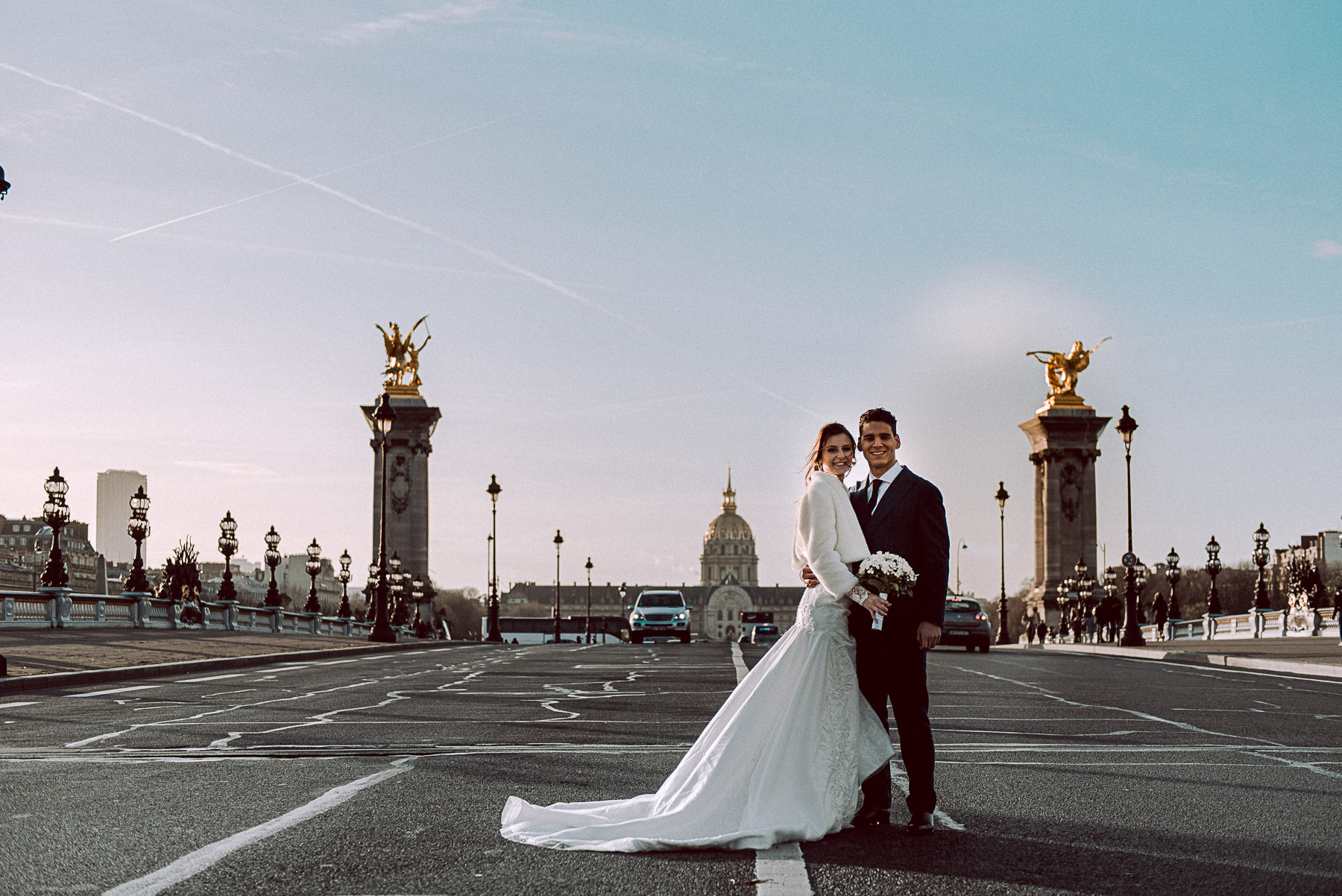 shooting couple à Paris